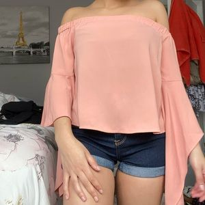 Miss guided off the shoulder top